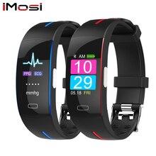 Imosi H66 измерять кровяное давление запястье пульсометр PPG ЭКГ Смарт Браслет спортивные часы Activit фитнес трекер Браслет