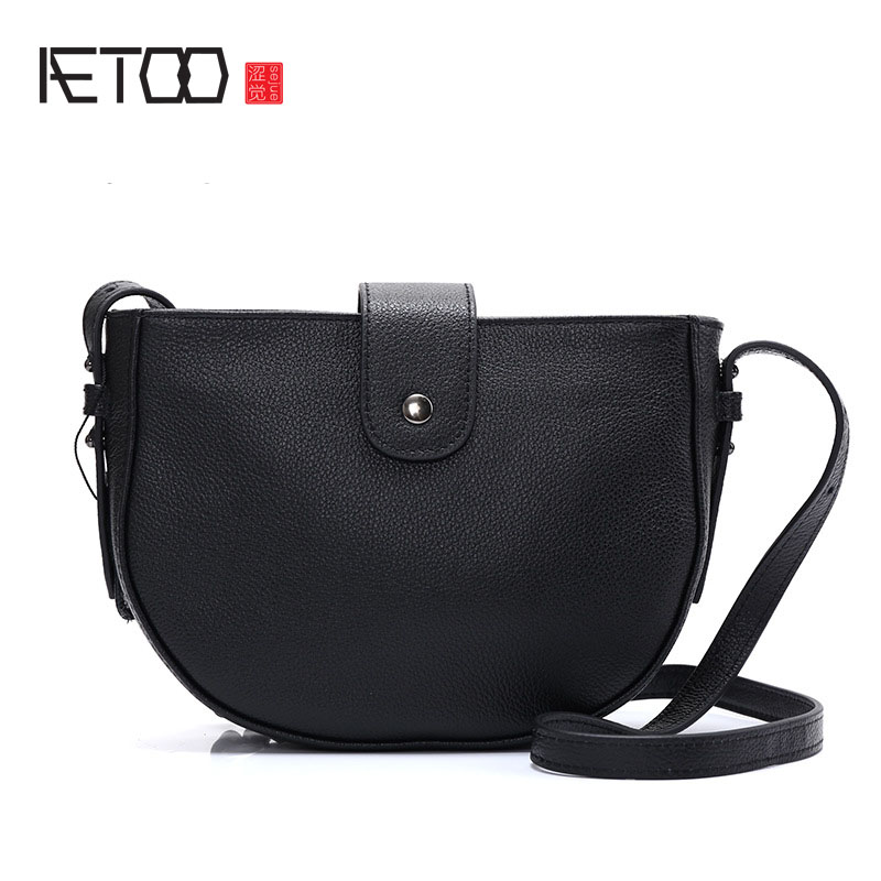 AETOO Leather shoulder Messenger bag Europe and the United States the first layer of the first layer of leather ladies bag retro aetoo europe and the united states trend of the first layer of planted tanned leather men handbags hand ladies shoulder diagonal