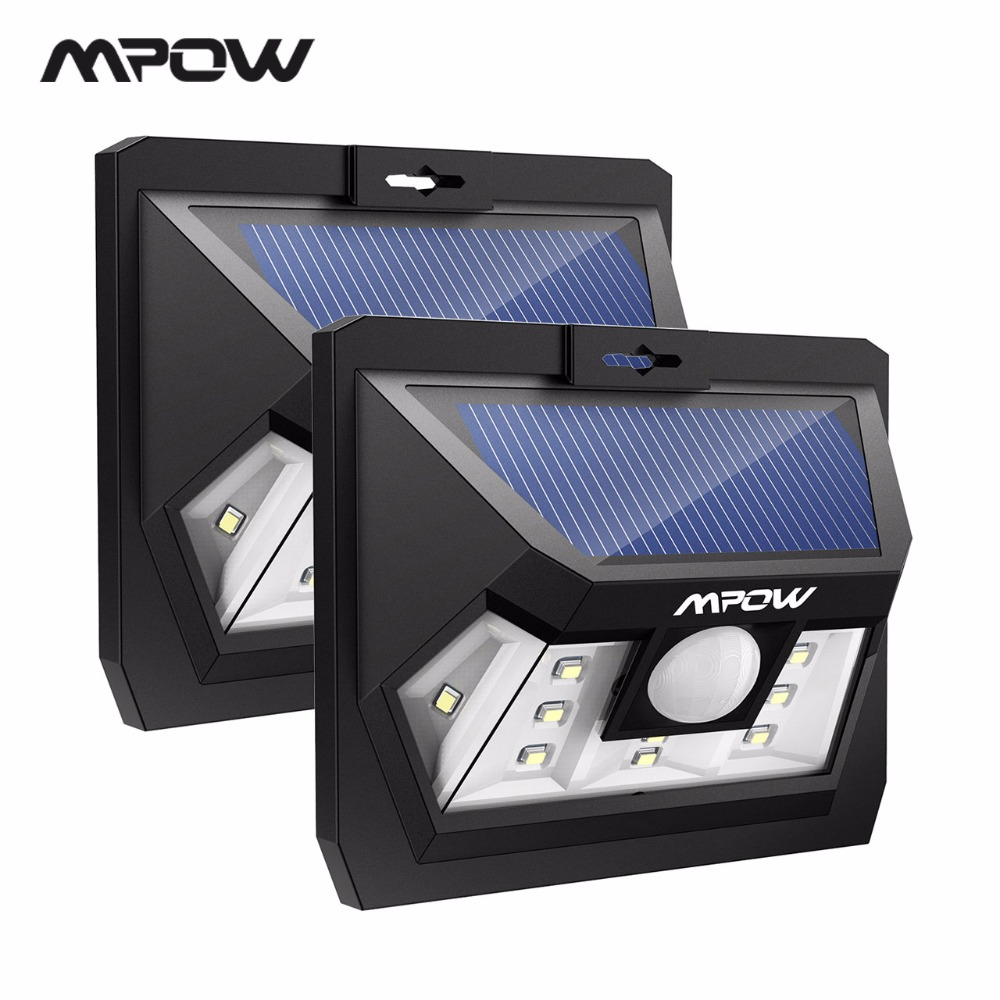 Mpow CD077 IP65 Waterproof LED Solar Lights 10 LED 2 Light Models Outdoor Lamp For Wall Fence Garden Pathway Doorway Garage Yard купить в Москве 2019
