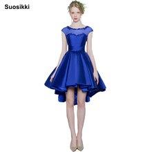 Suosikki Short Front Cocktail Dress 2020 Real Photo Sleevele