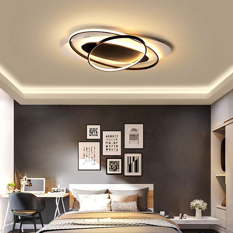 Modern led Ceiling lights for living room study room bedroom lighting white/Black/white and black surface mounted Remote control|Ceiling Lights| |  - title=