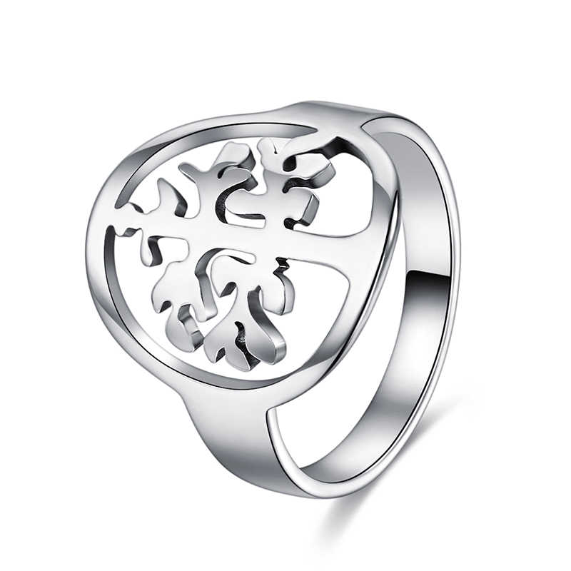CACANA  Stainless Steel Rings For Women With  Family Tree Fashion Jewelry Wholesale NO.R229