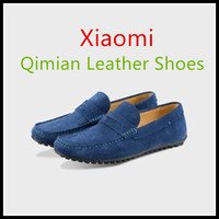 2018 New Xiaomi Ecological Chain Brand Qimian Suede Cow Leather Peas Shoes Splash Proof Fast Sweat