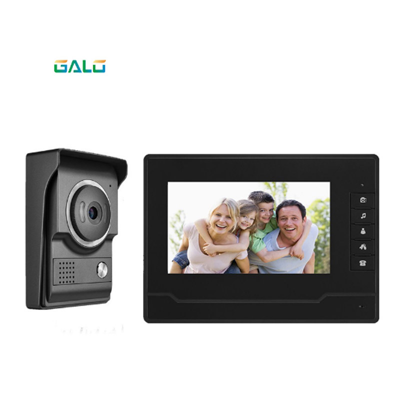 2019 New 4 Wired Villa Video Door Phone 7inch TFT LCD Screen Night Vision Color Camera Waterproof Home Security Intercom System