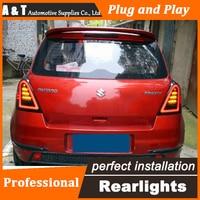 Car Styling LED Tail Lamp For Suzuki Swift Taillights 2005 2014 Swift Rear Light DRL Turn