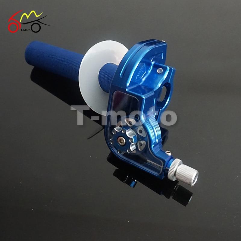 CNC Adjusterable Aluminum Throttle Grips Settle Twist Gas Throttle Handle For Dirt Pit Bikes Kayo Bse Apollo 110-250cc Modified