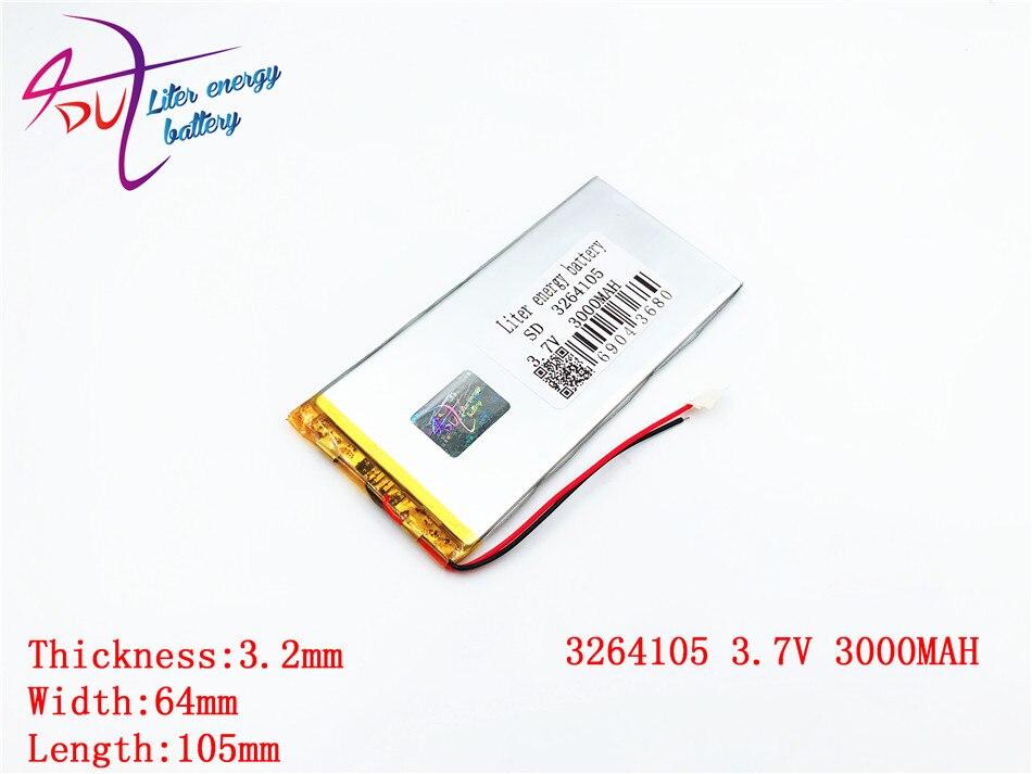 3000 Mah 3264105 3065105 Liter Energie Batterie Polymer Lithium-ionen Batterie Li-ion Batterie Für Tablet Pc 7 Zoll 8 Zoll Batterien 3,7 V
