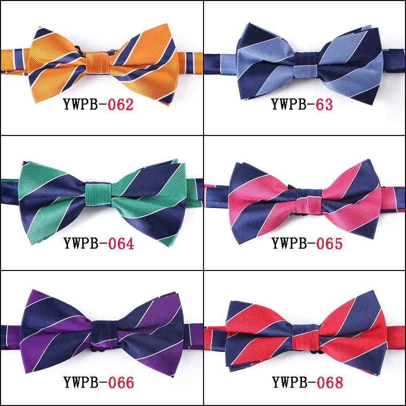 YISHLINE Новый Регулируемый мужской галстук-бабочка 70 стилей Цветочные Галстуки в полоску смокинг Доставка Свадебные вечерние аксессуары для шеи