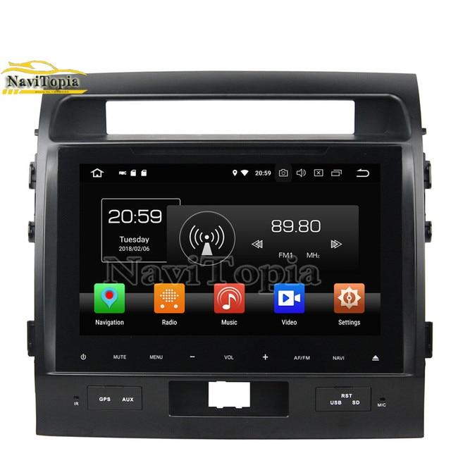 NAVITOPIA 9 polegada Octa Núcleo 64 4G + G Android Leitor Multimédia 9.0 Carro para Toyota Land cruiser 2012 2013 2014 2015 GPS Radio Stereo