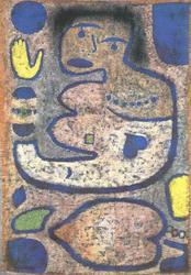 Wysokiej jakości obraz olejny obrazy olejne reprodukcje na płótnie piosenka o miłości przez księżyc w nowiu (1939) paula Klee obraz olejny ręcznie malowane