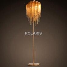 Modern American Nordic Style Aluminum Tassel Lamp Luxury Standing Floor Lamp for Bedroom Living Room Decorative Lighting