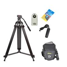 Professional Heavy Duty Photo Video Camera Tripod Stand Kit JIEYANG JY0508B 1.8m DSLR Camera Video Tripod with Fluid Head