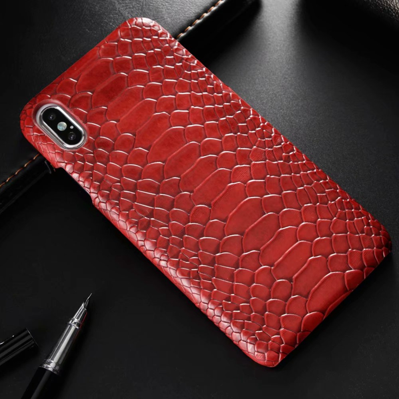 snake pu leather case (2)