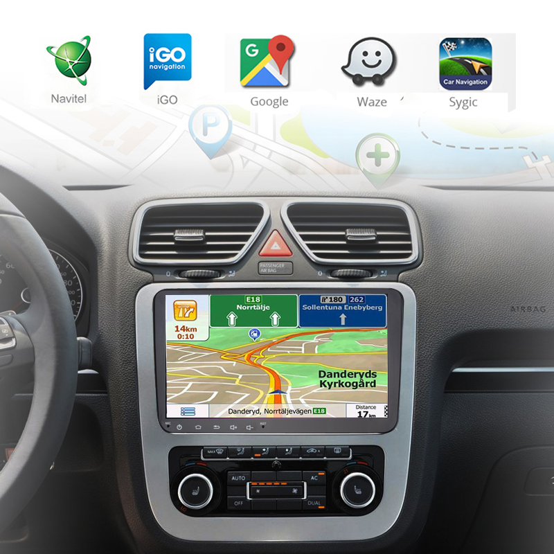 4G 64G SIM Android Car radio GPS <font><b>Multimedia</b></font> for VW Skoda Octavia <font><b>Golf</b></font> 5 <font><b>6</b></font> Touran Passat B6 Jetta Polo Bora CC EOS Vento Scirocco image