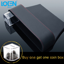 LOEN 1PCS Leather Auto Seat Gap Organizer Storage Box Car Console Side Pocket Seat Crevice Storage Box Seat Gap Pocket Organizer