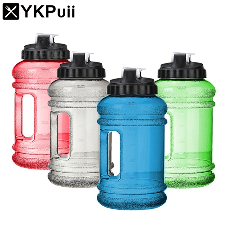 2 2L Big Mouth BPA Free Sport Gym Training Drink Water Bottle Cap Large Capacity Kettle