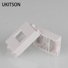 1 Unit White Color 23x36mm Blank Spacer With Keystone Hole For RJ45 Network RJ11 Phone Plug Component(China)
