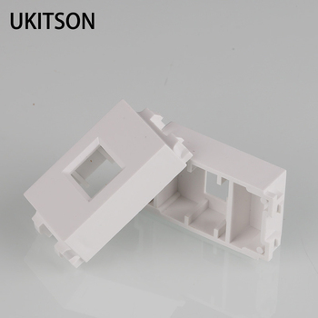 1 Unit White Color 23x36mm Blank Spacer With Keystone Hole For RJ45 Network RJ11 Phone Plug Component image