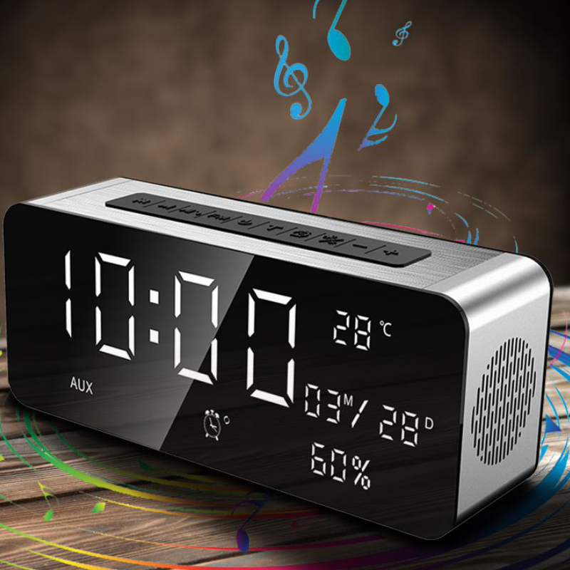2017 Newest Sardine A10 portable bluetooth speaker alarm clock temperature sense stereo soundbar FM radio house speaker 5000hAm 10 pcs tecsun pl 118 radio dsp fm stereo radio etm clock alarm professional receiver black portable radio recorder y4142a