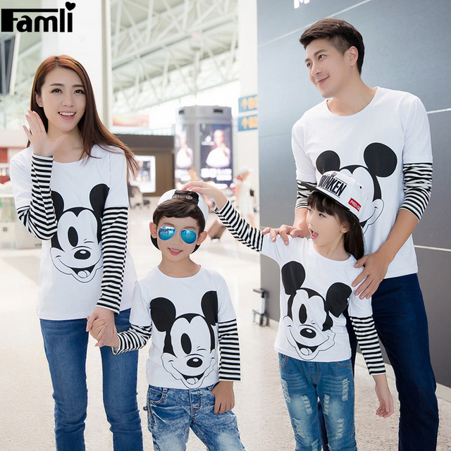 1 pc Father Son of Bande Dessinée Shirts Mom Baby Girls Character T-Shirts Outfits