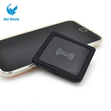 Старый Акула 5 V 2A Квадрат Беспроводного Зарядного Устройства Индуктивной Зарядки Площадку для LG SONY ASUS Padphone HuaWei Honor Mate HTC Nokia черный