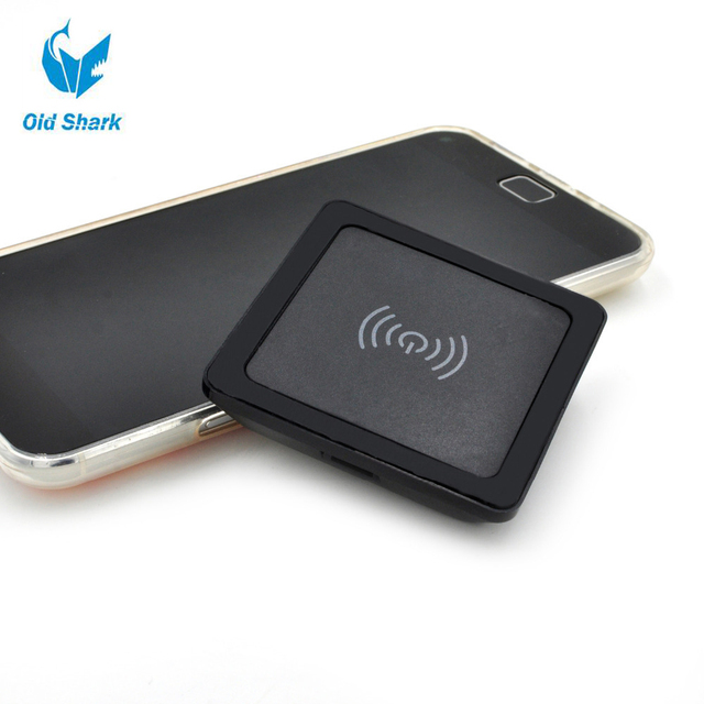 Old Shark 5V 2A Quadrate Wireless Charger Inductive Charging Pad for LG SONY ASUS Padphone HuaWei Honor Mate HTC Nokia Black