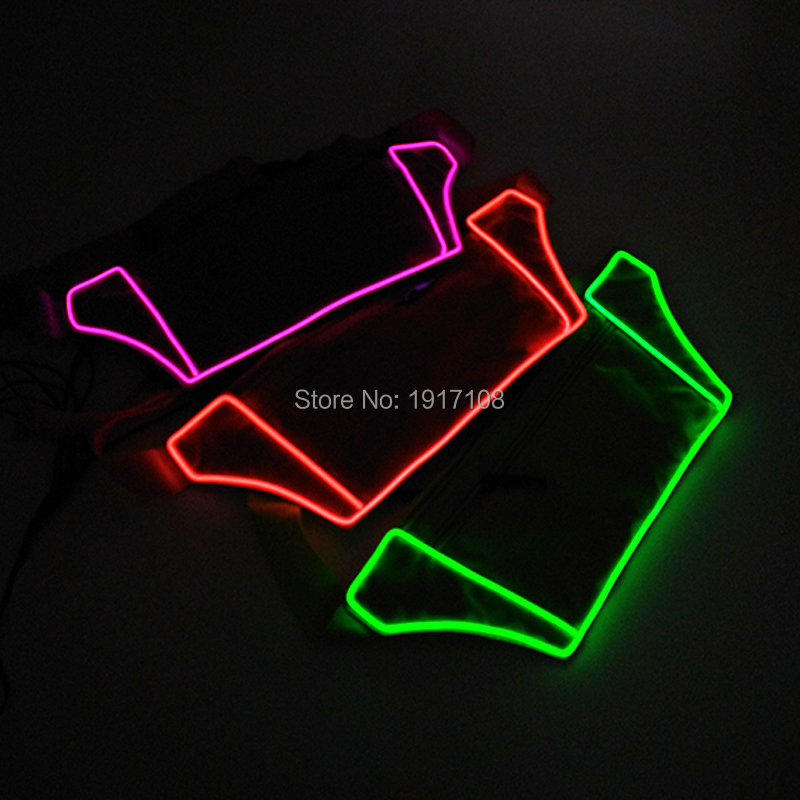 Wholesale 10 pcs Glowing EL Wire Running Waist Bag Fitness Packs Holder Jogging Sports LED strip Running bag party supplies