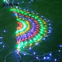JULELYS 3M x 0.5M 540 Bulbs Garland Festoon LED Net String Lights Outdoor Christmas Lights Decoration For Garden Holiday Party