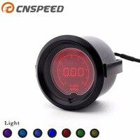 Free Shipping CNSPEED 2 52mm Digital Auto Car Tachometer Gauge 0 10000 RPM 7 Colors LCD Light Digital Tachometer Car Meter