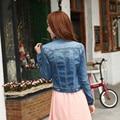 2016 для женщин джинсовая куртка женщины слишком большой джинсовые пальто женщин джинсовой куртке B164
