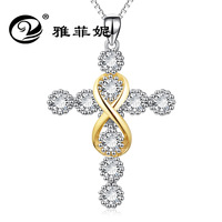 8 characters, gold colour love endless Lovers Necklace, fashion cross border new accessories factory direct sale.