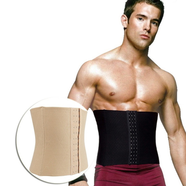 e9c0a85193fd7 NINGMI Slimming Body Shaper Mens Modeling Belt Fat Compression Waist  Trainer Tummy Trimmer Males Slim Strap