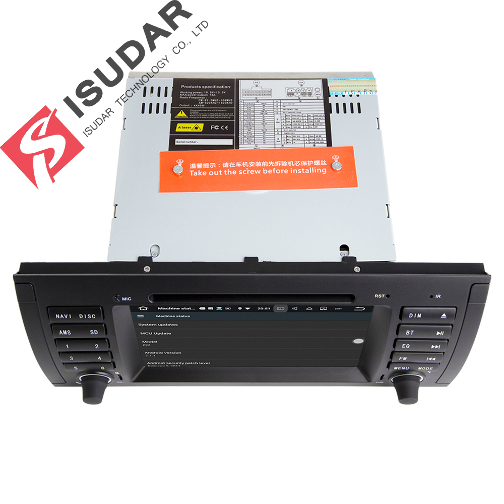7 In Dash Car DVD Player Multimedia For BMW E39 X5 M5 E53 With 2G