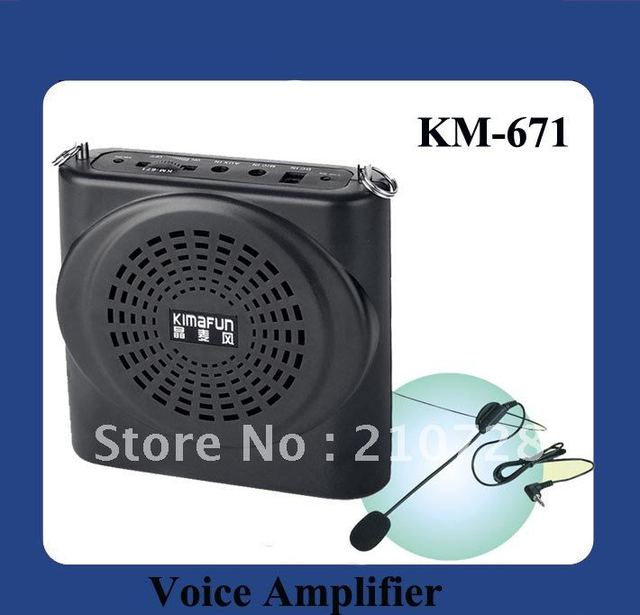 DHL Free Shipping Mini Portable Amplifier KM-671 is professional for teaching, tour guide,commentary,promotion,lecture etc