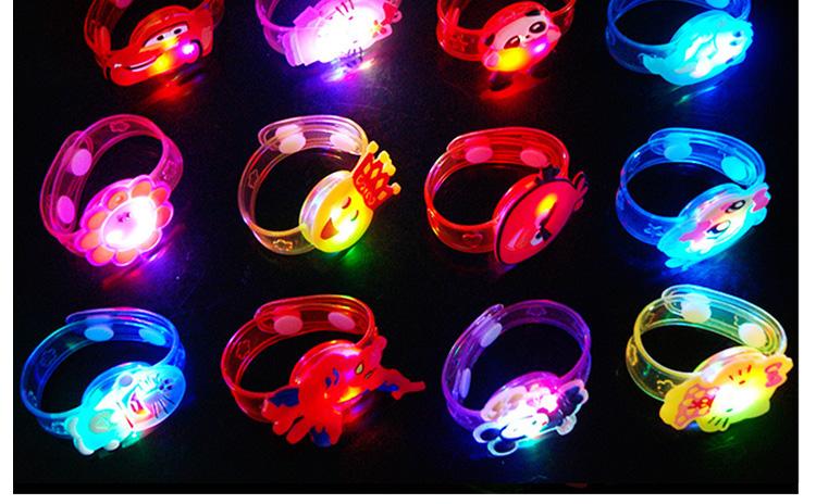 1pcs Cartoon LED Night Light Party Xmas Decoration Colorful LED Watch Toy Boys Girls Flash Wrist Band Glow Luminous Bracelets (5)