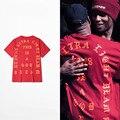 2016 NUEVA Camisa de Los Hombres de YEEZY Camiseta hombre Ropa Ganancias Me siento como Paul Temporada 3 Hip hop Kanye West YEEZY Yeezus camiseta para hombre camisas