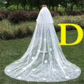 B Style Tulle White Ivory Cathedral Wedding Veils 300*300cm Flowers Lace Edge Bridal Veil Wedding Accessories Bride Wedding Veil