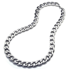 Jewelry Men's necklace, Stainless steel large gravity king motorcycle chain necklace, Silver, 14 mm wide, 55 cm long