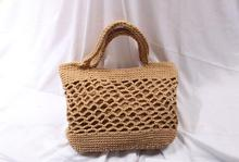 Cotton Handmade Straw Woven Bag Fashion Leisure Beach Hollow Out Shoulder Storage Totes Braided Hand Bag Handbag For Women Bags leisure straw and sequins design shoulder bag for women