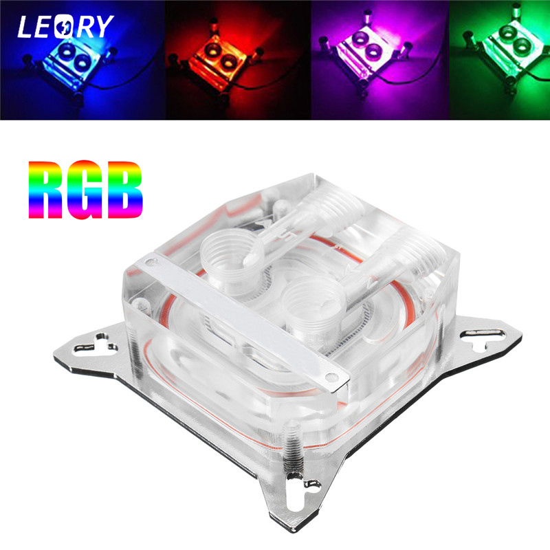 Transparent Water Cooling Block GPU Acrylic Copper RGB Graphics Card Core Water Cooler for VGA-TMC Support 53-62mm Hole Pitch computador cooling fan replacement for msi twin frozr ii r7770 hd 7770 n460 n560 gtx graphics video card fans pld08010s12hh