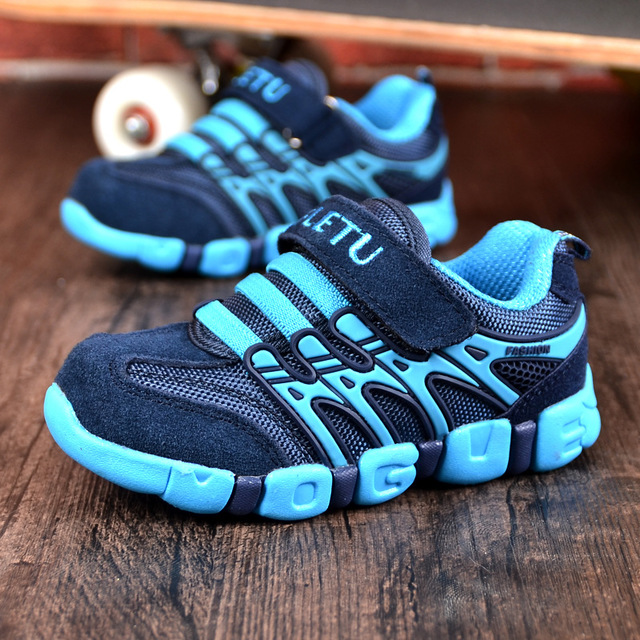 Children's Shoes Genuine Leather  Sports Shoes 2019 New Autumn Fashion Non-slip Sneakers Size 21 To Size37