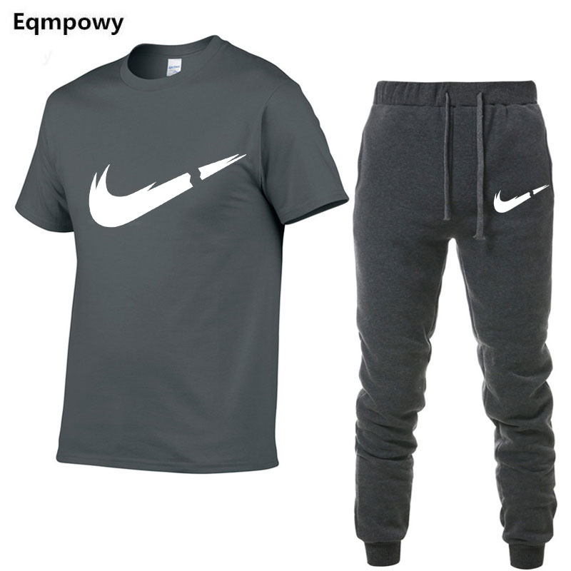 HTB12t1RN8LoK1RjSZFuq6xn0XXar 2019 Summer New Men's T shirt Tracksuit Casual Suits gym Clothing Man Sets Tops+Pants Male sweatshirt Men Brand T Shirt Set