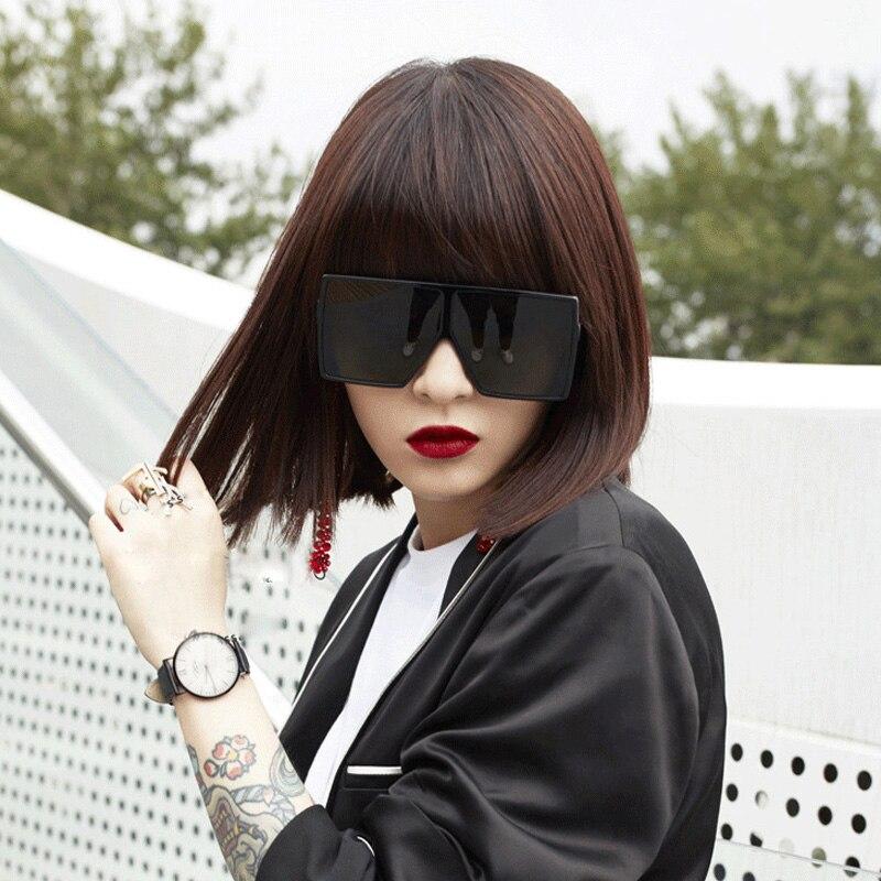GYsnail Oversized 2019 Sunglasses Women Black Square Gradient Men Big Frame Vintage Sun Glasses Female Shades UV400