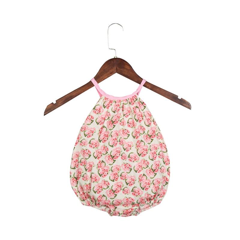 2018 Baby Girl Bubble Romper Ruffles Vintage Floral Prindi Patchwork - Beebiriided - Foto 3