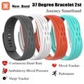 2017 new 37 degree 2st smart bracelet  journey Heart Rate Ambulatory Blood Pressure Monitor mood sleep sport tracker smartband