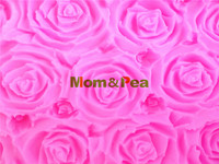 Mom Pea 0015 Free Shipping Big Soap Rose Silicone Mold Cake Decoration Fondant Cake 3D Mold