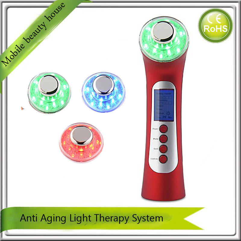 Home Use Best Portable Galvanic Ion Spa Ultrasonic Photon Therapy Skin Rejuvenation Anti Aging Wrinkle Facial Beauty Machine portable home use led photon blue green yellow red light therapy beauty device for face and body skin rejuvenation firming