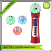 Home Use Best Portable Galvanic Ion Spa Ultrasonic Photon Therapy Facial Beauty Machine