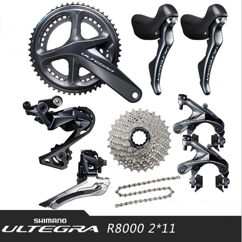 SHIMANO ULTEGRA UT-R8000 2x11 22 s Velocidade Bicicleta de Estrada Desviador Bicicleta Kit Kit Kit Bicicleta Peças Caixa De Velocidades de Transmissão frete Grátis