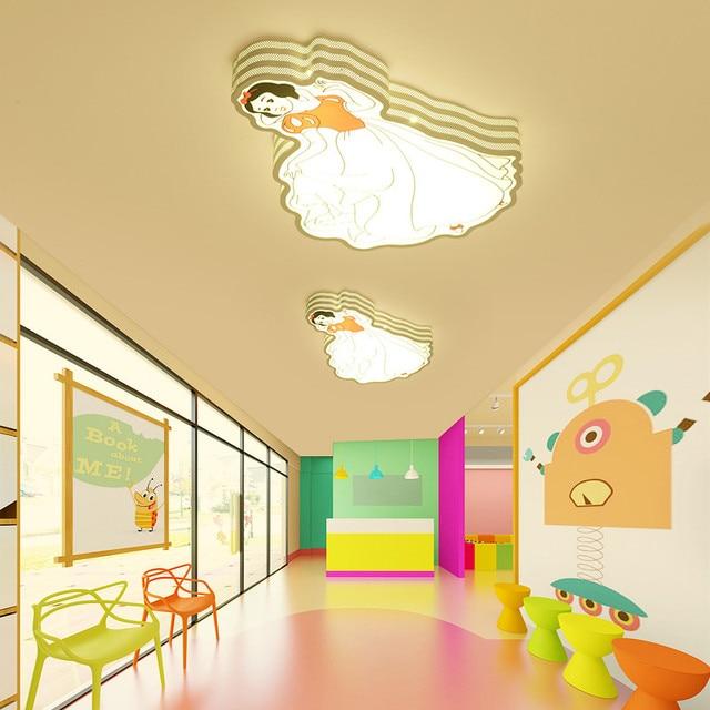 Modern Iron Cute Cartoon Children Princess Baby Kids Room Ceiling Light Lamp Fixture Bedroom For S Nursery Deco Lighting